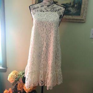 Nwot Free People Lace Mini Dress Size XS